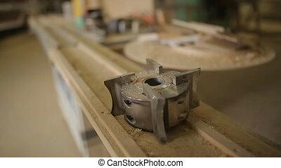 fabrication, bois, lent, traitement, matériel, bois,...