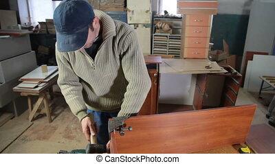 fabrication, charpentier, meubles