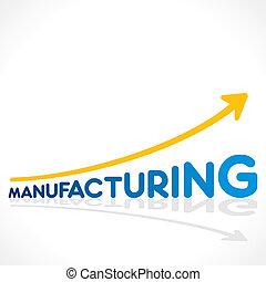 fabrication, mot, croissance, créatif