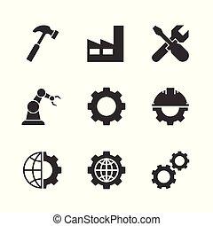 fabrication, noir, icônes