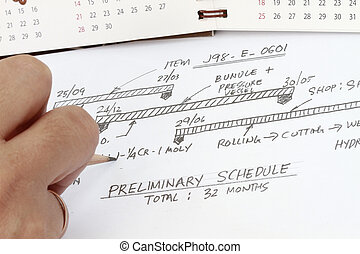 Fabrication schedule concept- many uses in the manufacture...