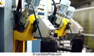 fabrication, started, gros plan, machine
