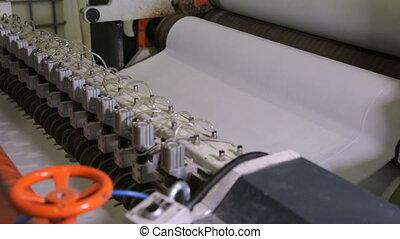 fabrication, usine, papier