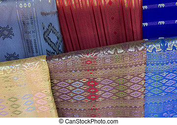 Fabrics found in a market