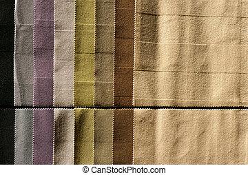 Fabrics sampler - Color palette sample picker of textile ...