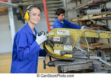 fabriek, werkende