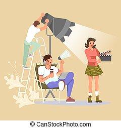fabriekshal, film, motie