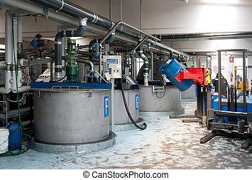 fabriekshal, industriebedrijven, olie