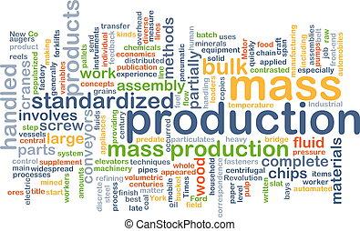 fabriekshal, wordcloud, concept, massa, illustratie
