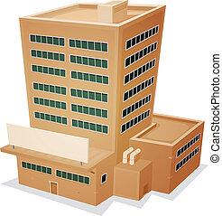 fabrik, bygning