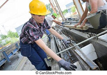 fabrik, kvinnlig, inredningssnickare