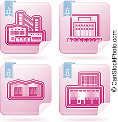 fabryka, icons:, przemysł