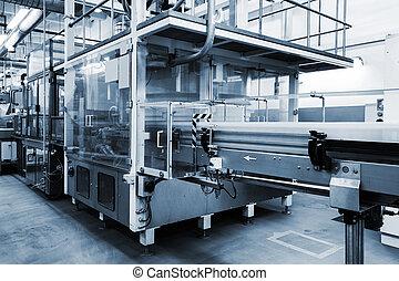 fabryka, pracujący, konwejer