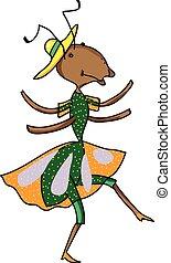 Fabulous ant is dancing