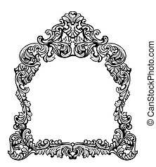 Fabulous Baroque Mirror frame set. Vector French Luxury rich...