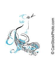 fabulous blue bird