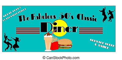 fabulous fifties diner - diner elements for fifties era...