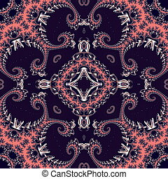 Fabulous fractal background with spiral ornament