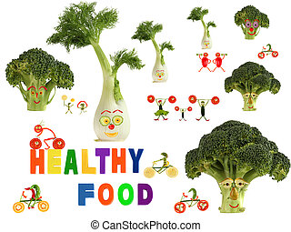 Fabulous healthy food country, made of fruits and vegetables