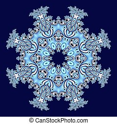 Fabulous openwork pattern in the form of snowflakes or lace ...