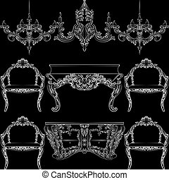 Fabulous Rich Baroque Rococo furniture set