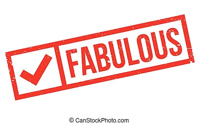 Fabulous rubber stamp
