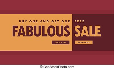 fabulous sale banner poster template for promotion
