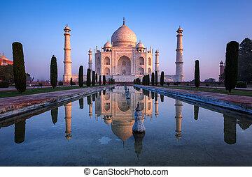 Taj Mahal monument.