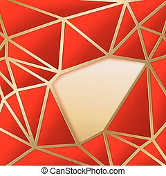 Fabulous triangles in gold.