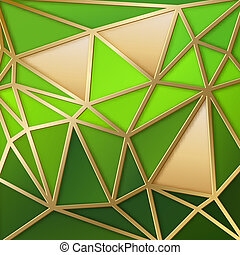 Fabulous triangles in gold. - Fabulous triangles pattern in...