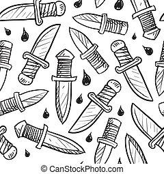 faca, fundo, seamless