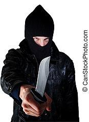 faca, homem