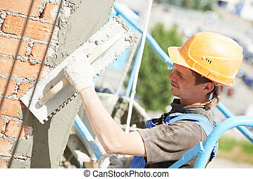 facade, aannemer, werken, stukadoor