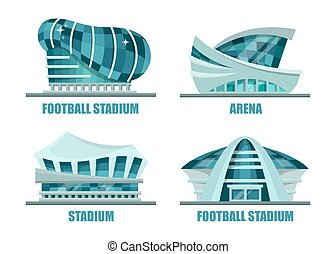 Facade architecture for soccer or football stadium