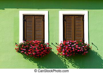 Beautiful floral windows in Austria