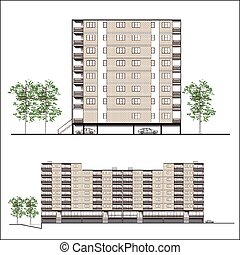 facade-habitation, 建物