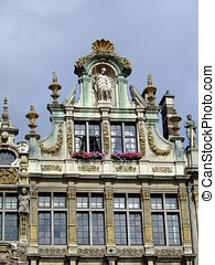 Facade in grand place , Brussels