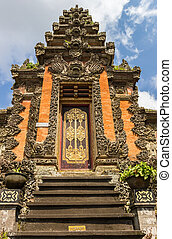 Facade of a Buddhist temple in Ubud