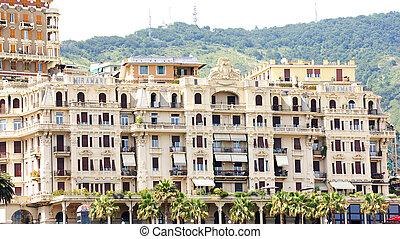 Facade of a building in Genoa
