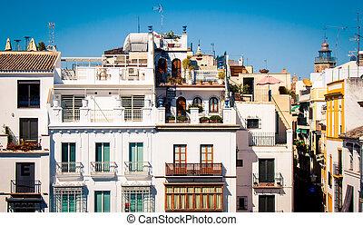 facade of a building in Seville