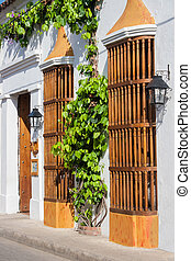 Facade of a colonial house