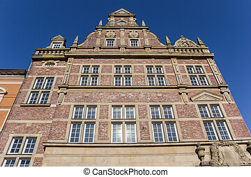 Facade of a historic building in the center of Wilhelmshaven