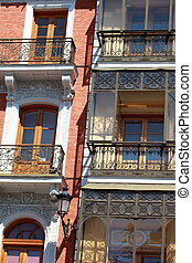 Facade of a house in Toledo, Spain