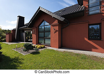 Facade of a huge residence - Facade of a huge luxury...