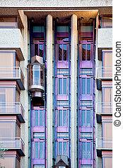 Facade of a modern house