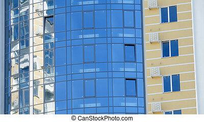 Facade of a new modern building