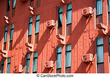 Facade of a Red Building