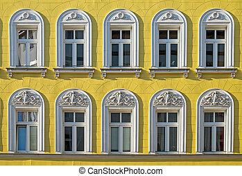 Facade of an restored building