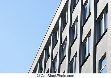 facade of apartment building against the sky