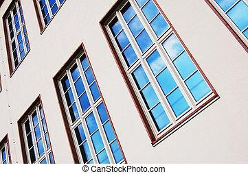 facade of apartment house - cladding of an apartment house ...
